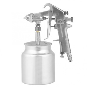1.5mm Nozzle 750ml Capacity Suction Feeding Mode Air Paint Spray Gun Pneumatic Tool F-75S Suction Feeding Mode