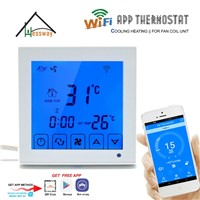 HESSWAY 2p 4p Central Air Conditioner Cooling Heating Smart WiFi Thermostat for Fan Coil Unit Room Temperature Controller