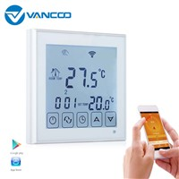 Vancoo WiFi Thermoregulator Floor Heating Thermostat Electric Room Warm Temperature Controller Dual Sensor Probes