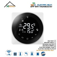 EU Programmable Double Sensor Electric Temperature Controller WiFi THERMOSTAT 16A Heating Cable for Graphene Heating Film