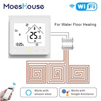 Smart Thermostat WiFi Temperature Controller Water Warm Floor Heating Works Amazon Alexa Echo Google Home Tuya APP Control