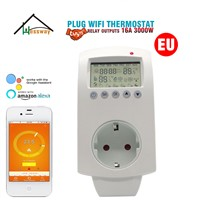 16A Programmable WiFi Thermostat Plug Socket EU for Electric Floor Heating