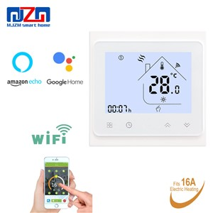 MJZM 16A-002BB-WiFi Electric Heating Thermostat LCD Display Temperature Controller for House Floor Warm Thermostat Regulator