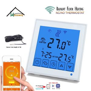 Android ISO APP Operating Smart Floor Heating Thermostat WiFi for Underfloor Warm System