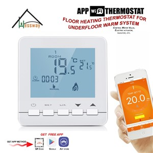 Water Valve, Electric Actuator, Radiator by Smart Phone Floor Heating Thermostat WiFi for for Underfloor Warm System