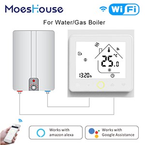 Smart Thermostat WiFi Temperature Controller Smart Life APP Remote Control for Water Gas Boiler Works with Alexa Google Home