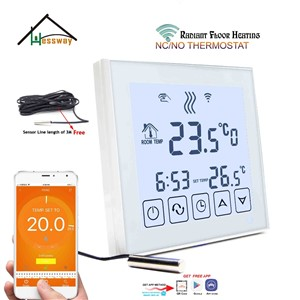 Mobile Sensor NO, NC Water Floor Heating WiFi Thermostatic Radiator Valve for White Background Light