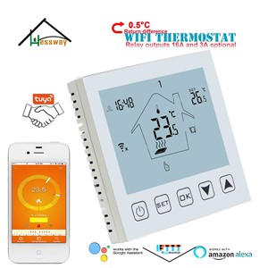 HESSWAY Economical 0.5°C Difference Adjustable Floor Heating Thermostat WiFi for TUYA IVR