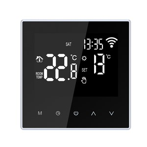 16A WiFi Smart Thermostat Temperature Controller for Electric Floor Heating Programmable APP Control LCD DisplayTouch Screen