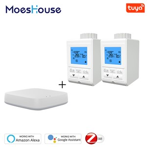 Zigbee Smart TRV Thermostatic Radiator Valve Controller Thermostat Temperature Tuya APP Control Works with Alexa Google Home