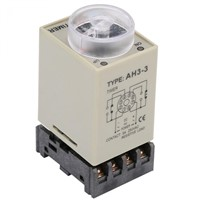 Universal 0-10 Seconds Knob Control Timer Relay AH3-3 Delay ON Time Relay with Base AC 110V 5A Socket Rotary Knob Hot Sale