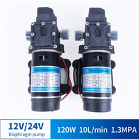 12V 24V 120W 130PSI 10L / Min Water High Pressure Diaphragm Self-Priming Pump Sprayer Car Wash