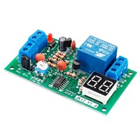 JK12-A 12V Time Adjustable Relay Module with LED Digital Tube Display Countdown Single Chip Relay