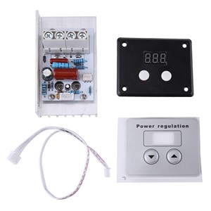 AC 220V 10000W 80A Digital Control SCR Electronic Voltage Regulator Control Dimmer Thermostat + Digital Meters