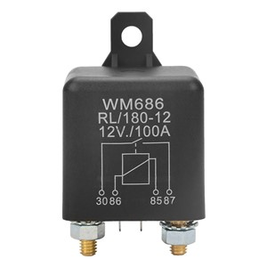 100A Car Starter Relay Normal Open Heavy Duty Car Starter Relay for Control Battery ONOFF RL180 DC 12V WM686