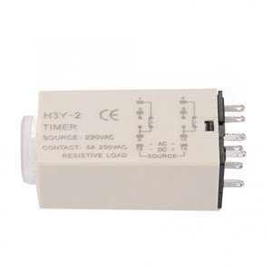 AC 220V H3Y-2 Delay Timer Time Relay 0-10 Second 10s 10sec.