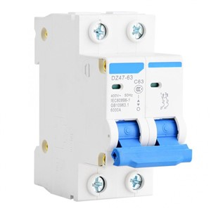 DZ47-63 2P Miniature Circuit Breaker Leakage Protection Air Switch 400VAC Air Circuit Breaker