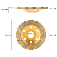 Meterk  Diamond Segment Grinding Wheel Disc Bowl Shape Grinder Cup 22mm Inner Hole Concrete Granite Masonry Stone