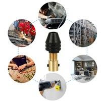 3.16mm Drill Chuck Hex Shank Screwdriver Intermediate Shaft Hand Clamping Snap-out Keyless Change Chuck for Electric Screwdriver