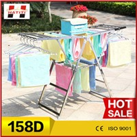 158D Stainless steel folding CE & ISO extendable deluxe clothing hanger stand