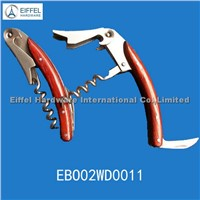 Red wine opener with wood handle(EBO02WD0011)