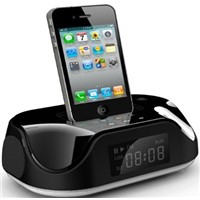 FM Radio Speaker for iphone/ipod/Portable Speaker with Alarm Clock
