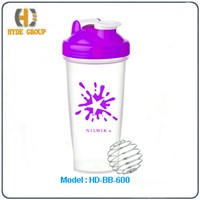 600ml Wholesale Shaker Bottle with Stainless Steel Ball (HD-BB-600)