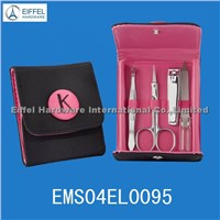 4pcs unique design manicure set in folding pouch(EMS04EL0095)