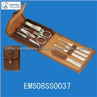 High quality 8pcs pedicure set in folding pouch (EMS08SS0037)