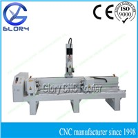 3D Cylinder Rotary CNC Router, 500*2400mm Working Area