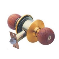 Wood door knob lock in high quality and best price