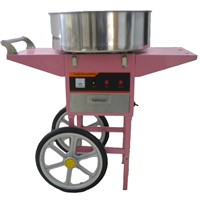 ourdoor using candy floss machine with cart