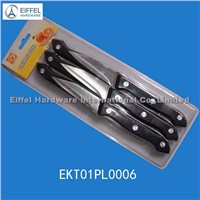 Fruit Knife with Plastic Handle in blister card (EKF01PL0006)