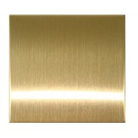 14729 Brass Colored Bead Blasted Stainless Steel Plate / Sheet For Art Work