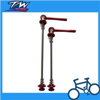 Red color heavy-duty bicycle bike quick releases skewers