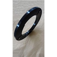 Ribbon Wound black painted steel strapping