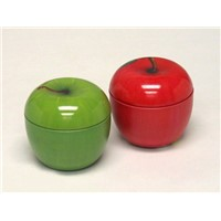apple shape tin box tea box
