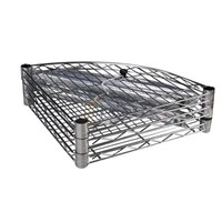 High Quality Chrome-plated Sector Wire Shelf / Household Wire Shelf