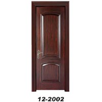 Solid wood door, filled with particle board or chipboard