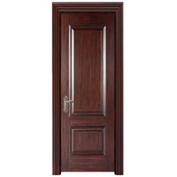 Wooden door made of solid wood and plywood, plywood door