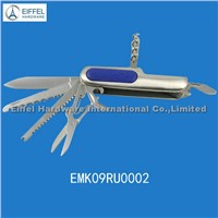 9 in 1 stainless steel knife with plastic part embeded(EMK09RU0002)