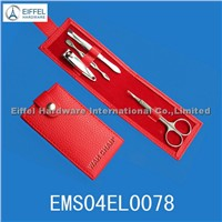 4pcs promotional Gift set in red PE pouch(EMS04EL0078)