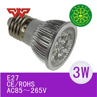 CE, RoHS, TUV Approved LED spot light 3W GU10 AC100-240V