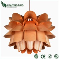 Modern wooden pendant lamp for hotel and restaurant