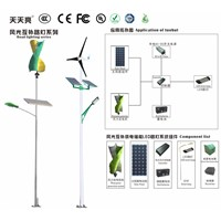 Solar and wind hybrid energy LED street lamps [Set (with pole)]
