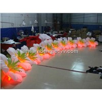 Wedding decoration gate inflatable flower garland with led light