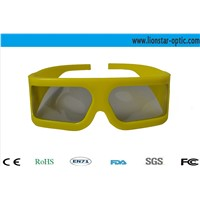 yellow plastic frame linear polarized 3d glasses