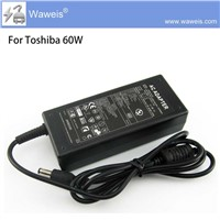 Waweis 100% Original Laptop Adapter for Toshiba 15V 4A 15V 4A AC Power Adapter EU/UK/US/AU Plug