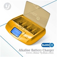 UK LCD Premium AA AAA Battery Charger 8 Channel Quick Charger Home Use manufacturer
