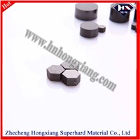 PCD blank for diamond wire dies